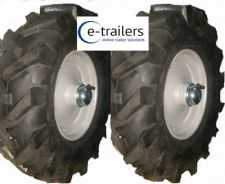 "PAIR 8"" REAR WHEELS & TYRES FOR Muck-Truc ® POWER-BARROWS-MOTORISED BARROW"